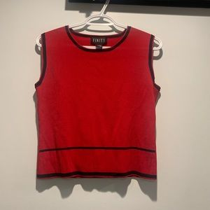 Finity red sweater vest size m